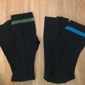Lululemon yoga pants both reversible to black